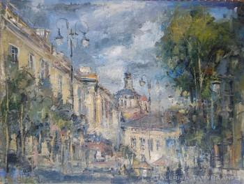 Paveikslas su Vokiečių gatve Vilniaus senamiestyje