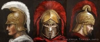 Paveikslas su senovės graikų kariais