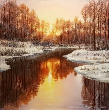 žiemos peizažas paveikslas